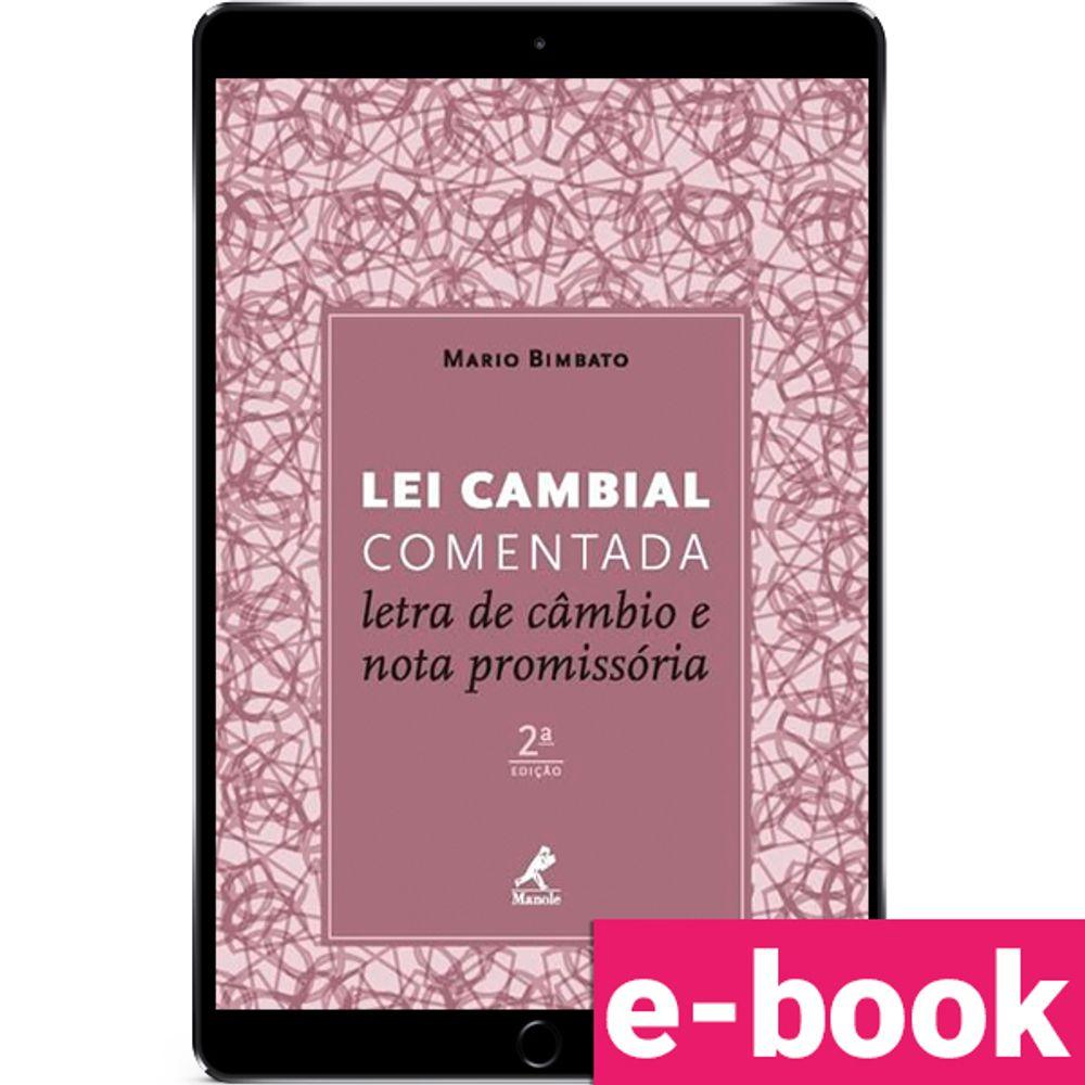 lei-cambial-comentada-letra-de-cambio-e-nota-promissoria-2-edicao-2016