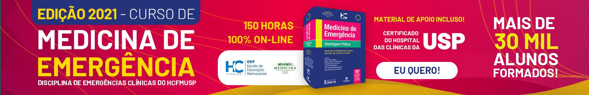 CURSO DE MEDICINA DE EMERGÊNCIA DA DISCIPLINA DE EMERGÊNCIAS CLÍNICAS DO HCFMUSP - EDIÇÃO 2021